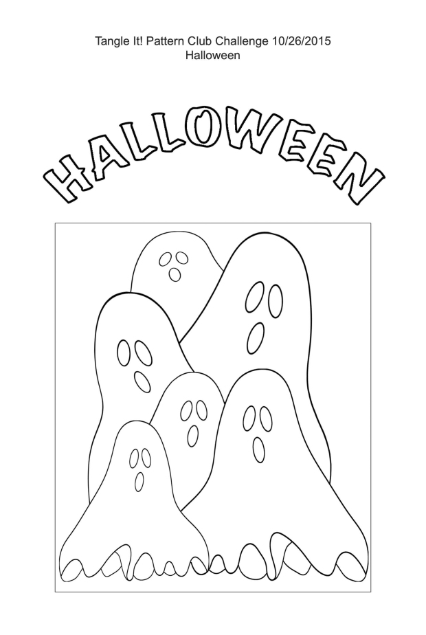 Tangle It! Pattern Club Halloween Challenge