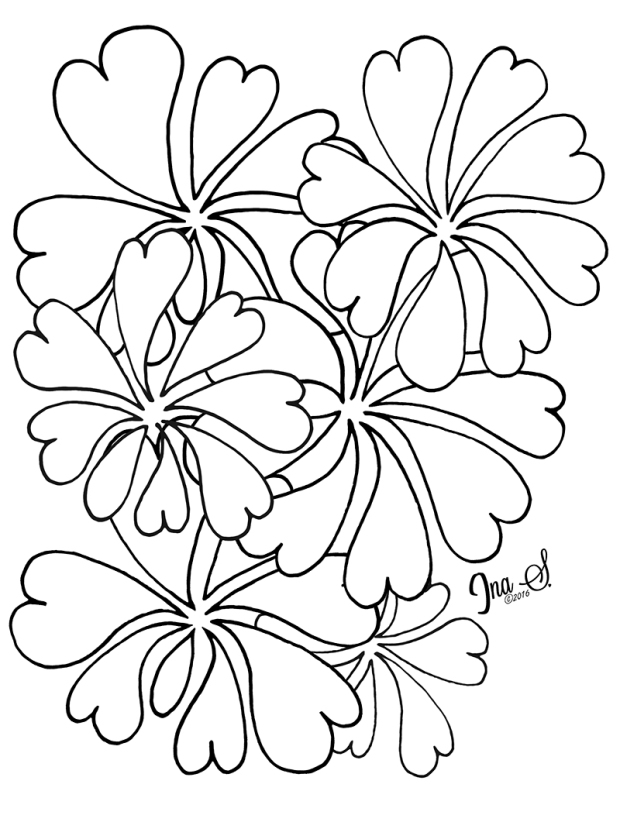 Flowerly Coloring Page by Ina Sonnenmoser