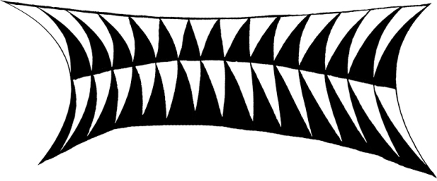 Pattern in totally warped form