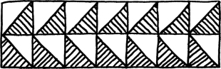Lines pointing in different directions