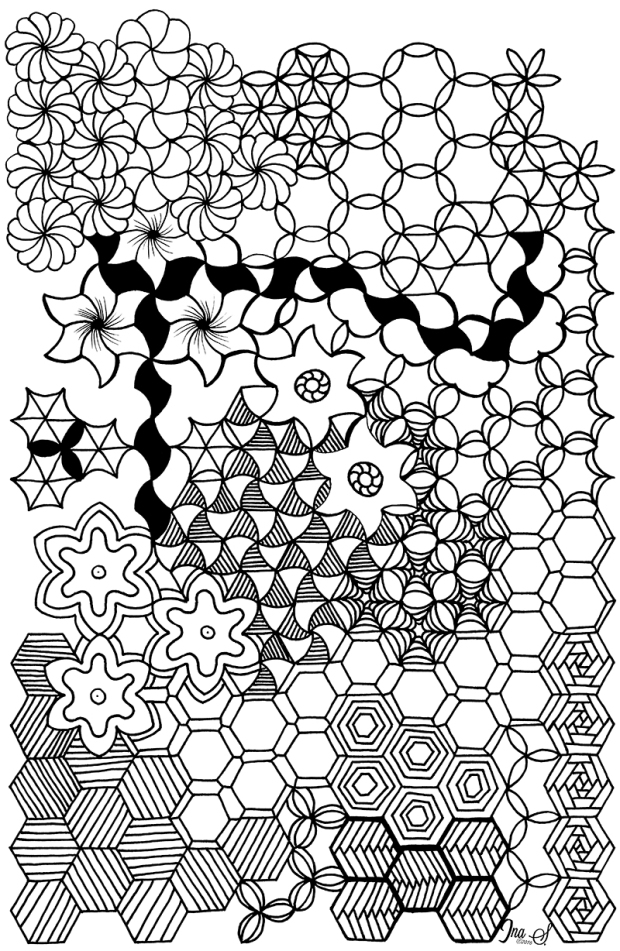 Hex Flower Extreme Artwork by Ina Sonnenmoser