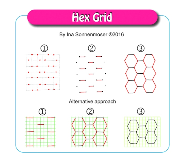 Hex Grid by Ina Sonnenmoser